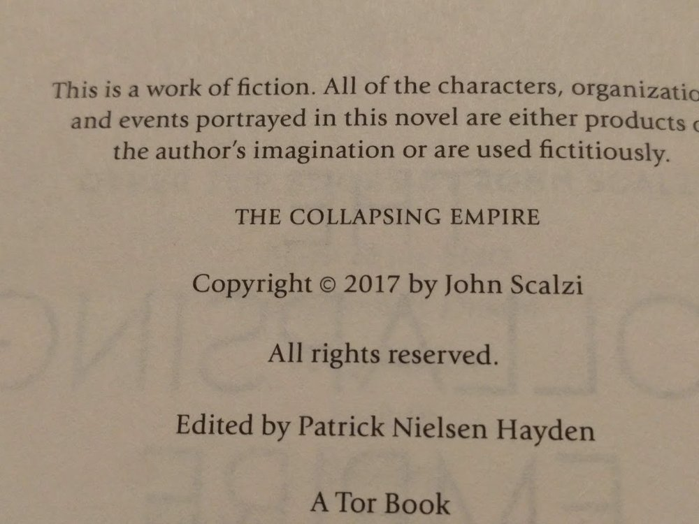 """The Collapsing Empire"" by John Scalzi"