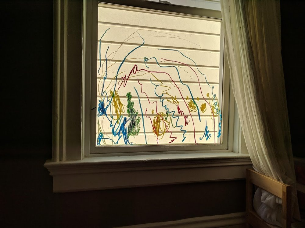 Why draw on paper when you have markers and a large window?