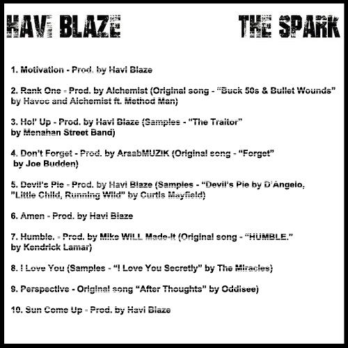The Spark Tracklist