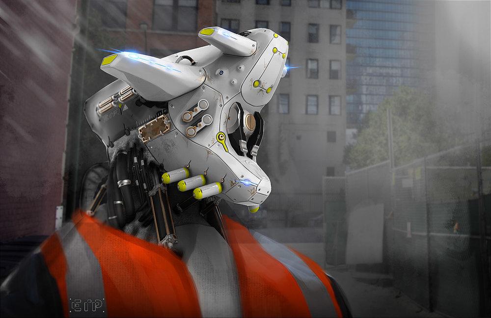 robot concept art elias pfuner