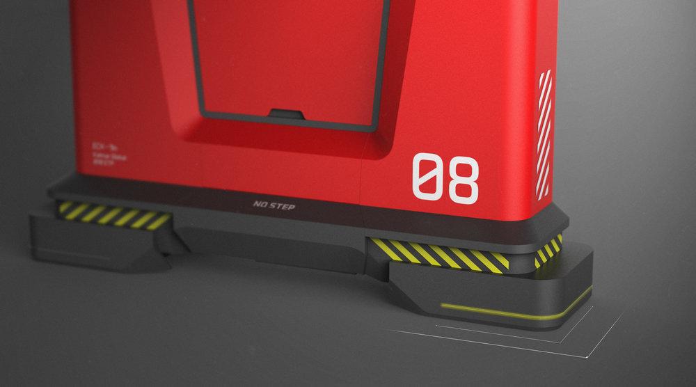hydralic feet - rendering -3