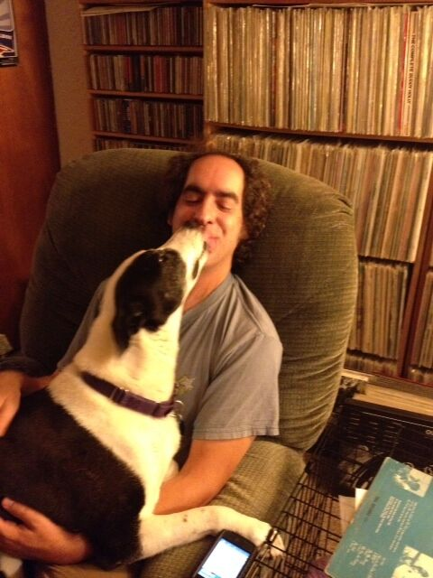 Peaches rescue dog and Kate Bigger- shelter dog, separation anxiety, senior dog training.