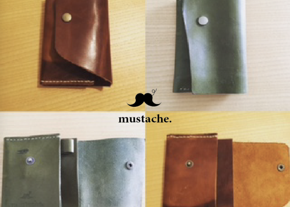 mustache. -Leather Goods Brand-   Art Direction, Product Design
