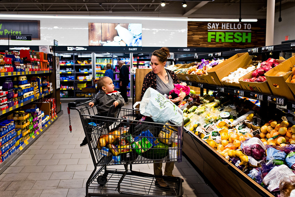 documentary photography mom shopping with kids bristol, connecticut family photography