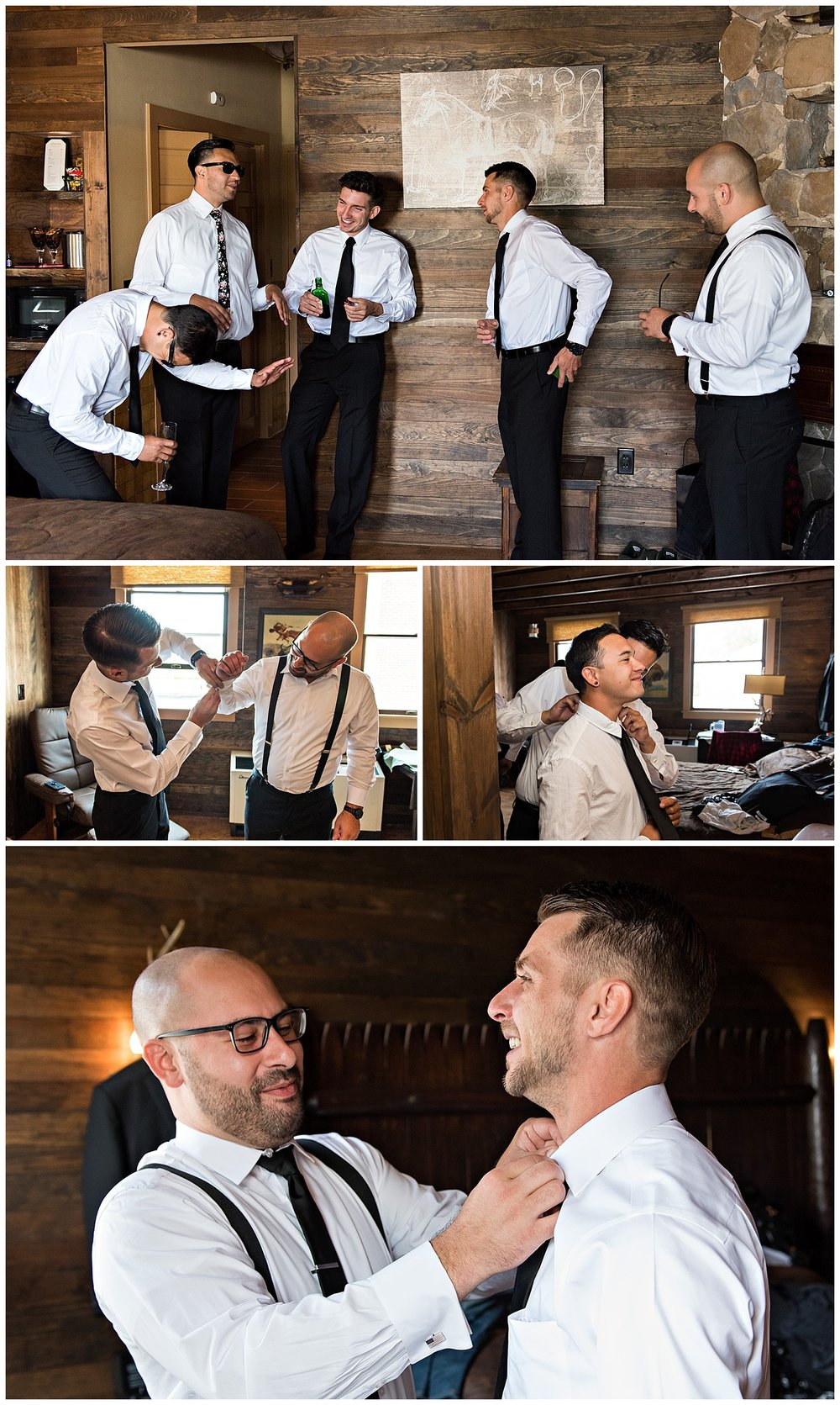 groom getting ready before wedding. ct elopement photographer