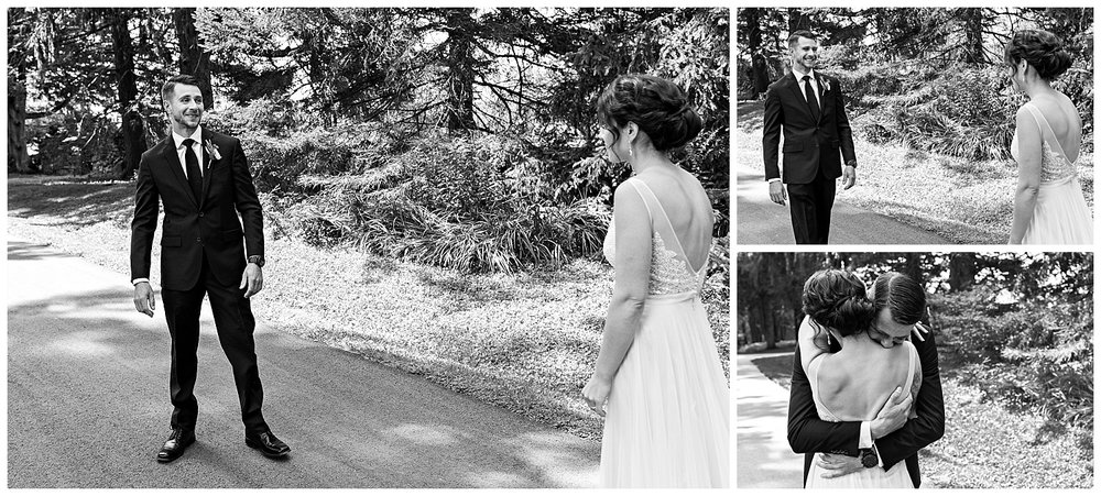 first look at topsmead state park. ct wedding photographer
