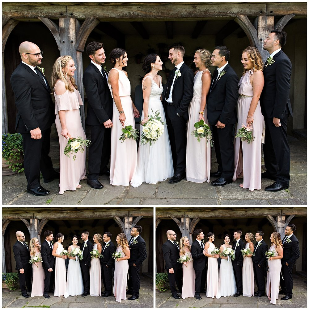 Connecticut Wedding Party Formal photography at Topsmead State Forest in Litchfield, CT