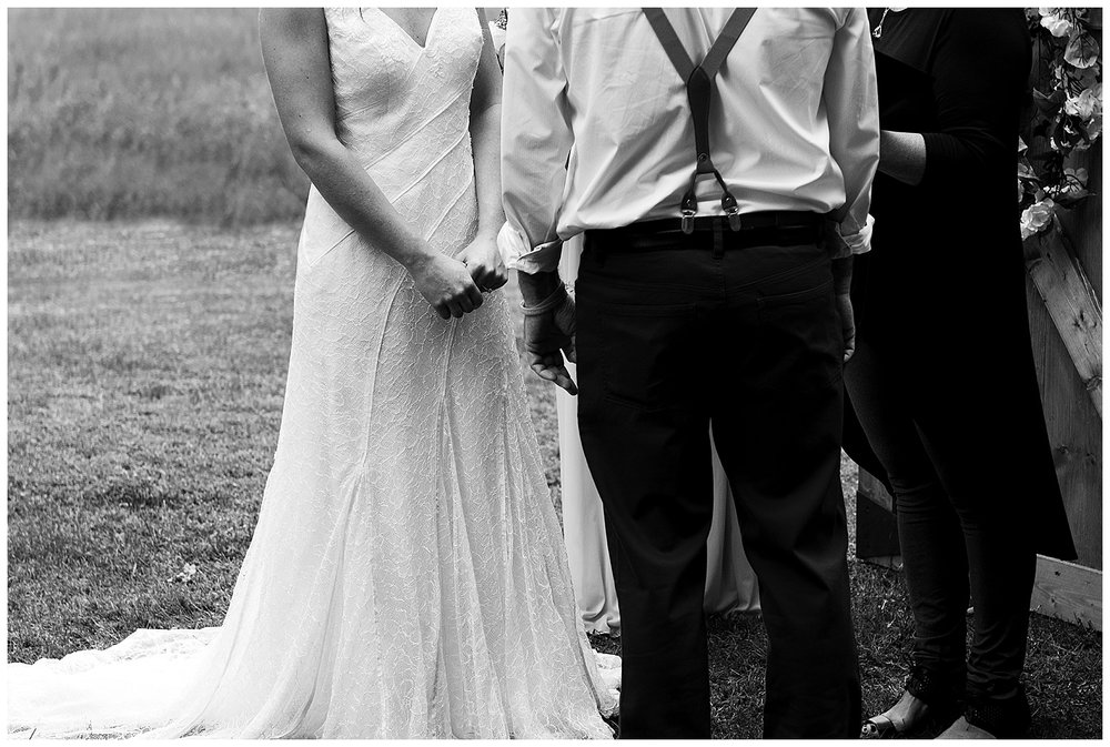 backyard wedding ceremony in clinton, ct with Rebecca Lynne Photography