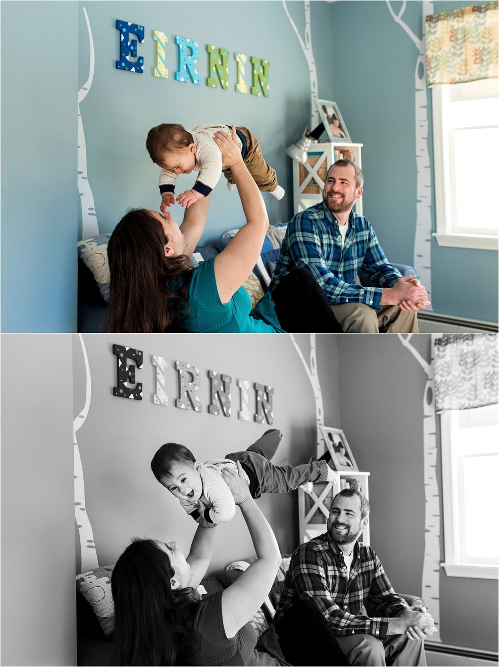 baby photography in nursery mystic, ct family photographer