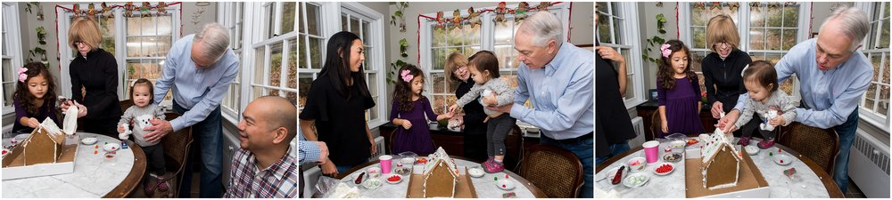grandparents with grandchildren, christmas family photography in connecticut