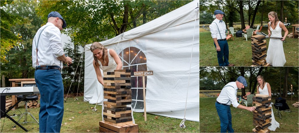 giant jenga rustic wedding yard games
