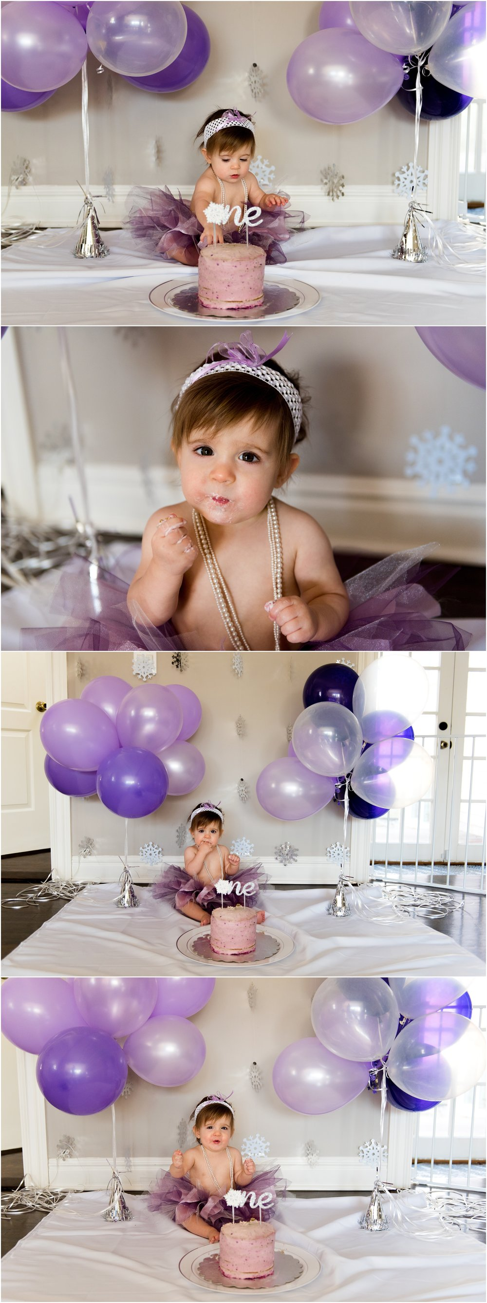 1st birthday cake smash baby photography ct