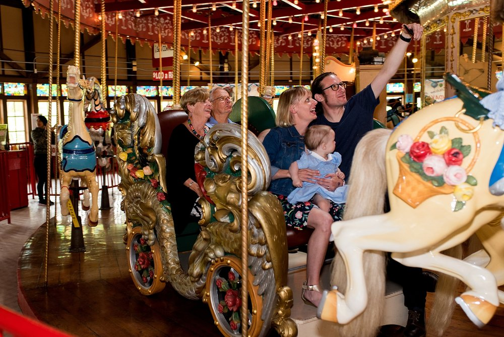 carousel at bushnell park in hartford, ct