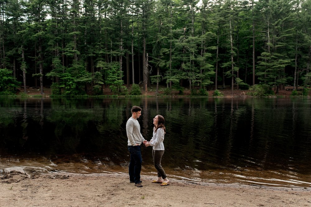 ct engagement photography in the woods