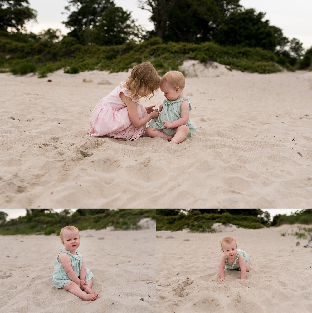 lifestyle family photography on the beach in connecticut