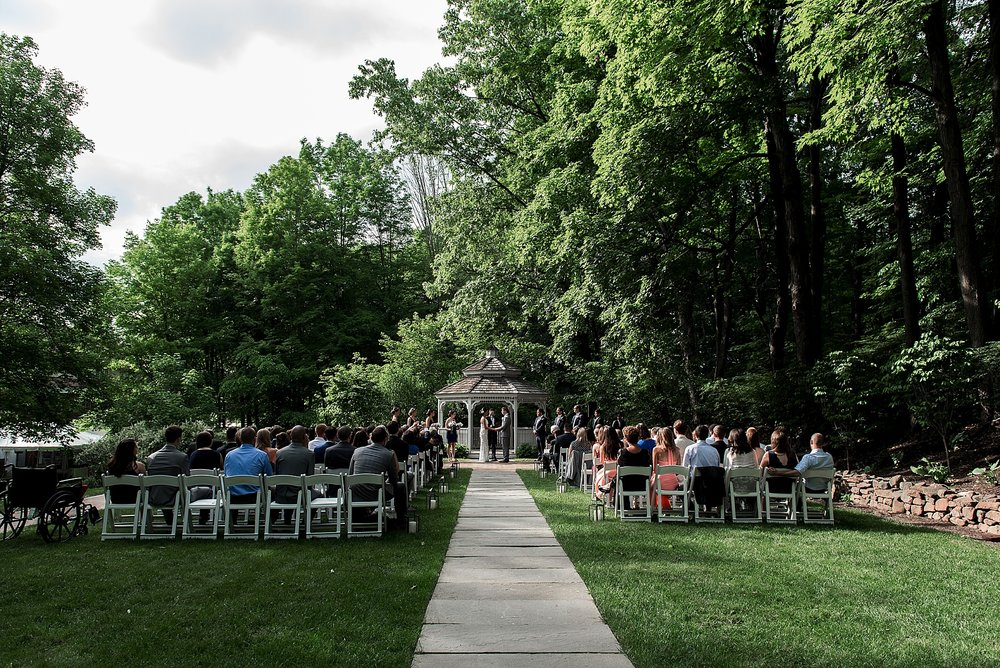 intimate wedding ceremony at avon old farms in avon, ct