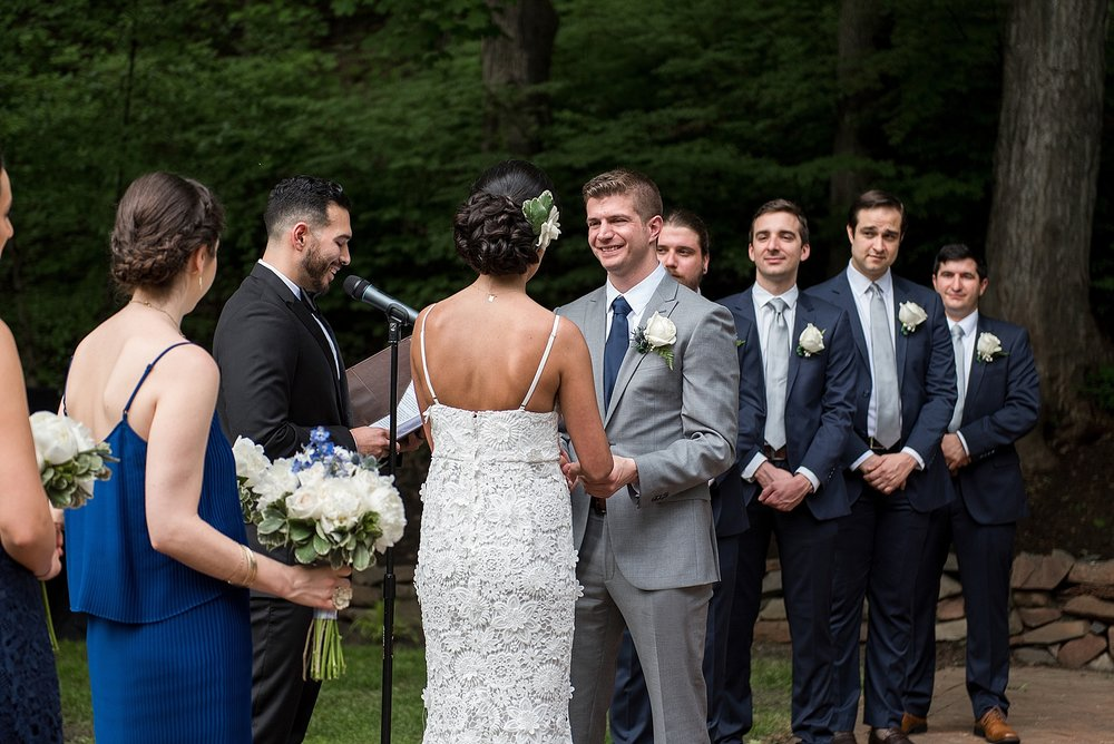 wedding ceremony at avon old farms in connecticut