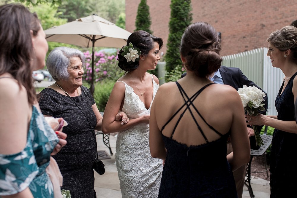 candid wedding cocktail hour photography in connecticut