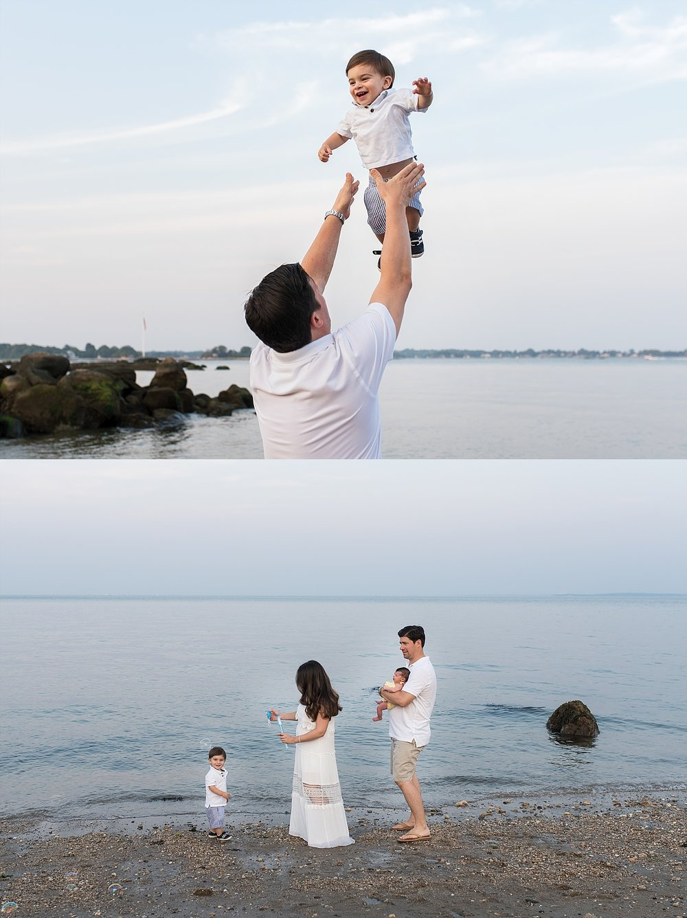 extended family photography on connecticut beach