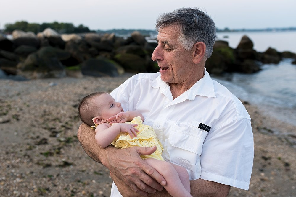 grandpa and granddaughter extended family photography in connecticut