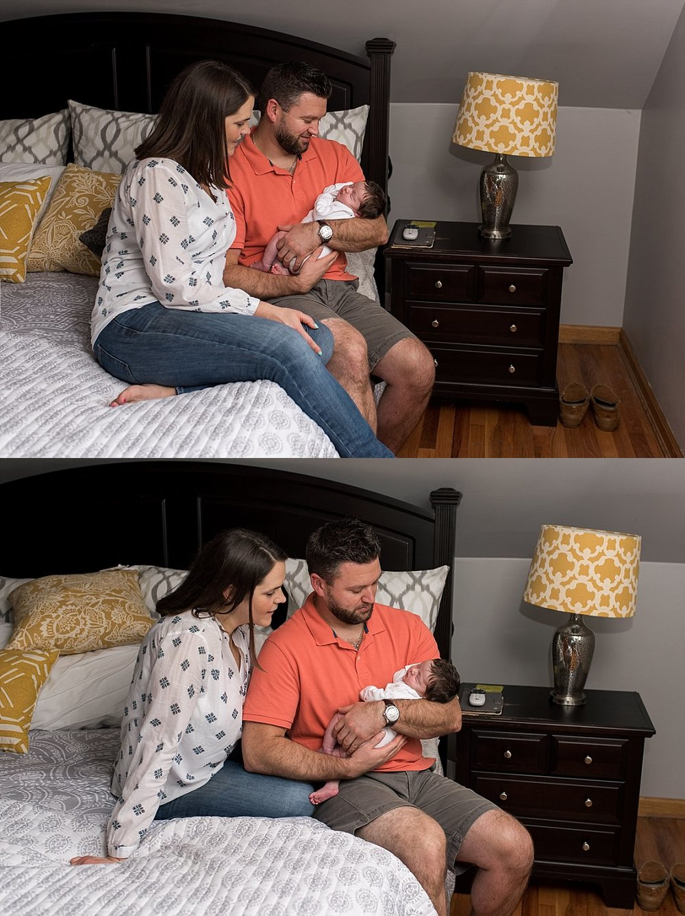 at home newborn photography session in connecticut