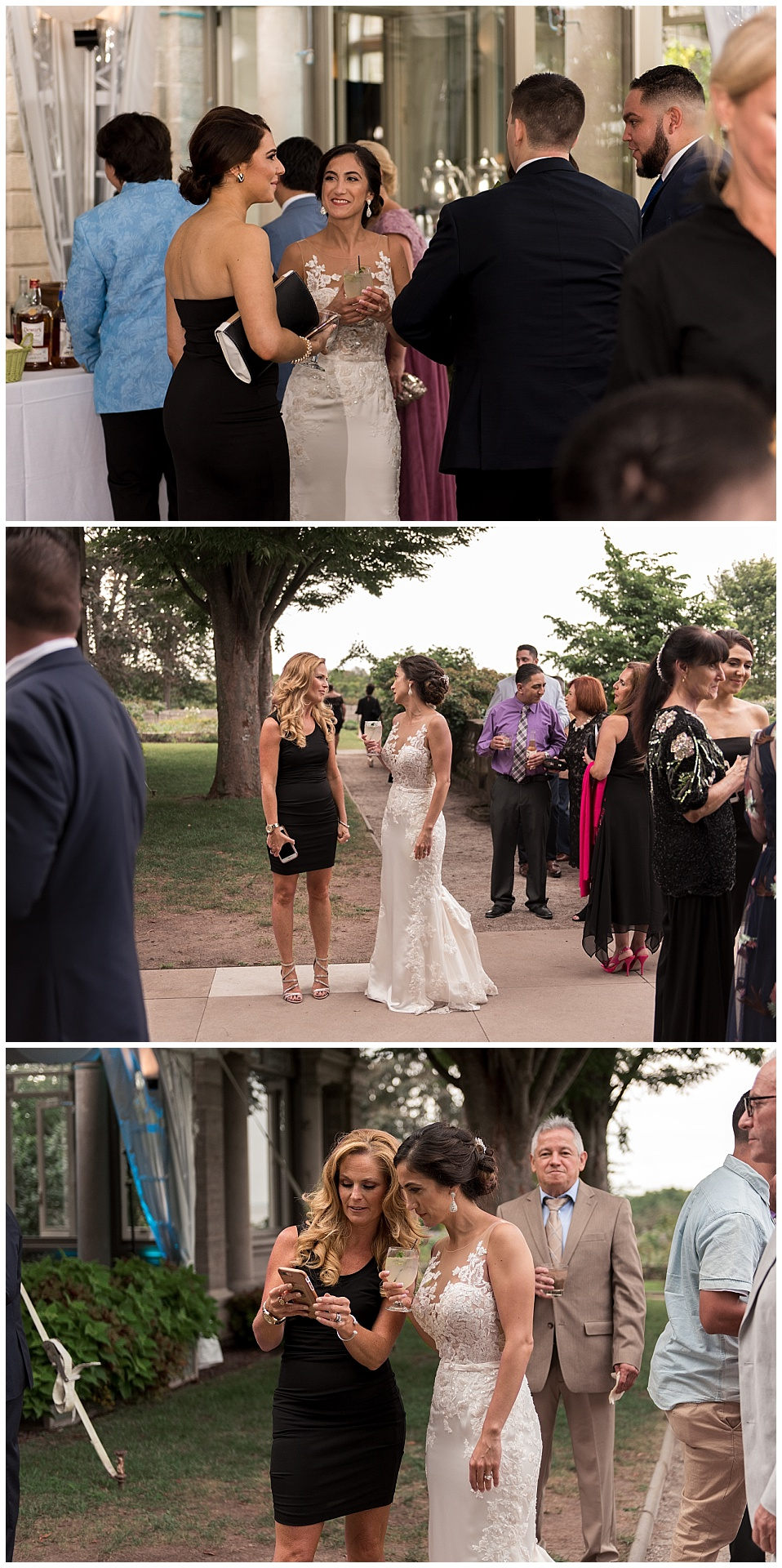 candid cocktail hour wedding photography connecticut