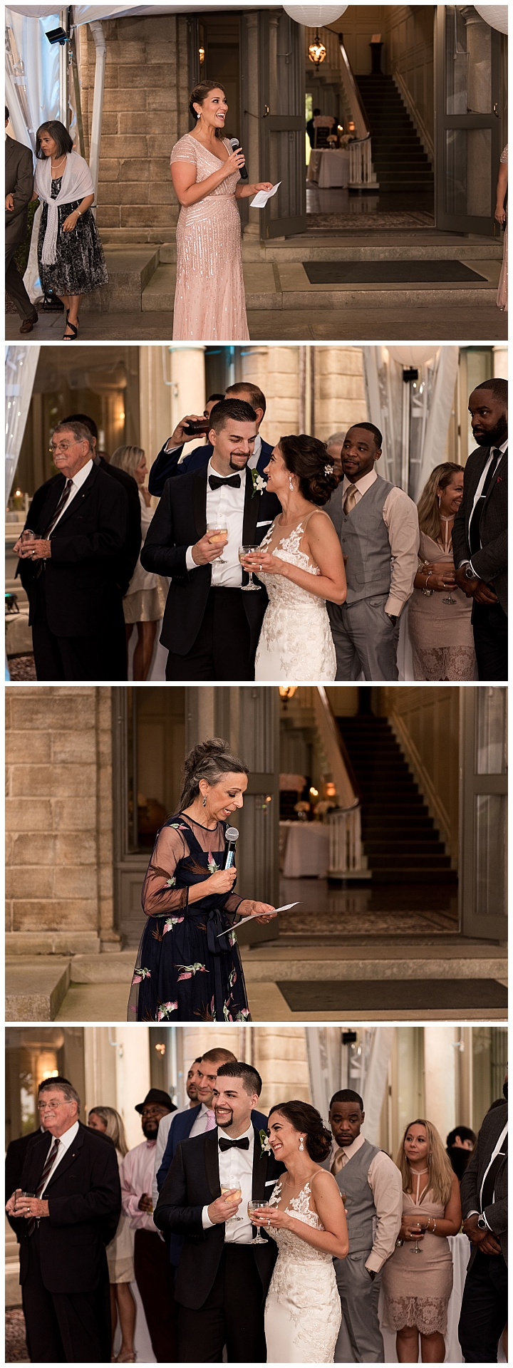 toasts at eolia mansion harkness state park wedding photographer