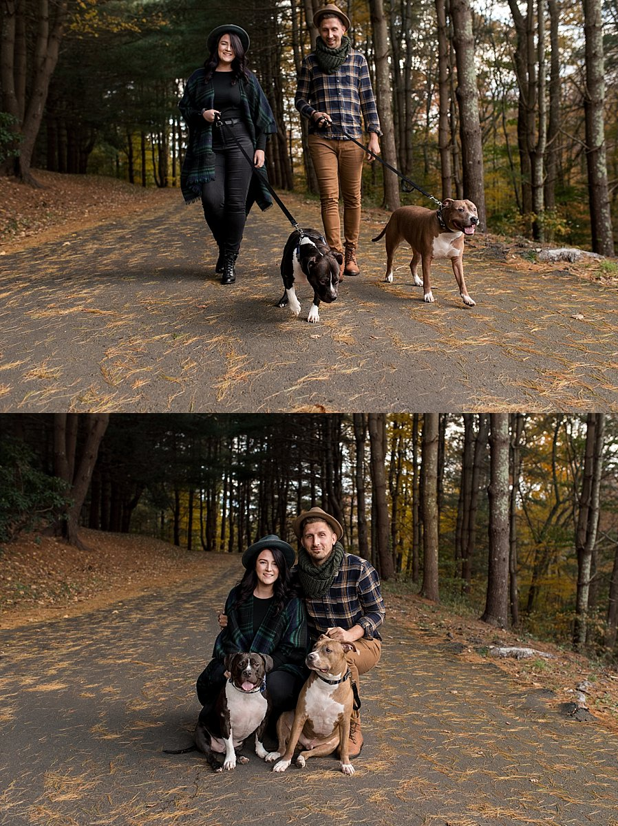 candid wedding photography with dogs