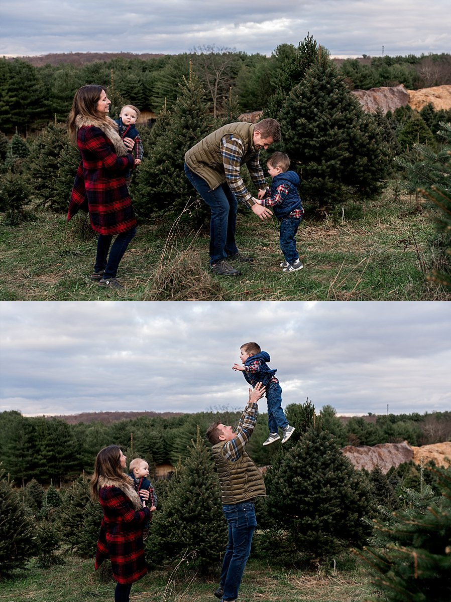christmas tree farm family photography CT