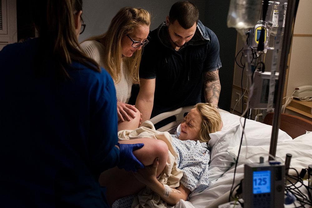 birth photography at st francis hospital in hartford CT