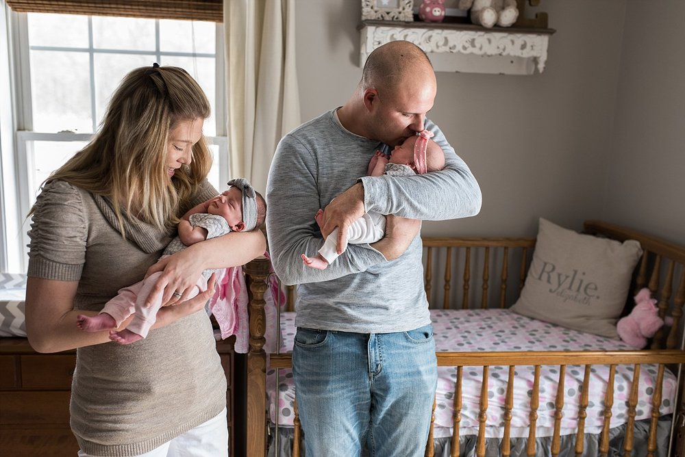 twin girl newborn photography fairfield county ct