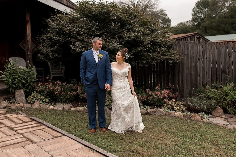 bride and groom portraits at wood acres farm