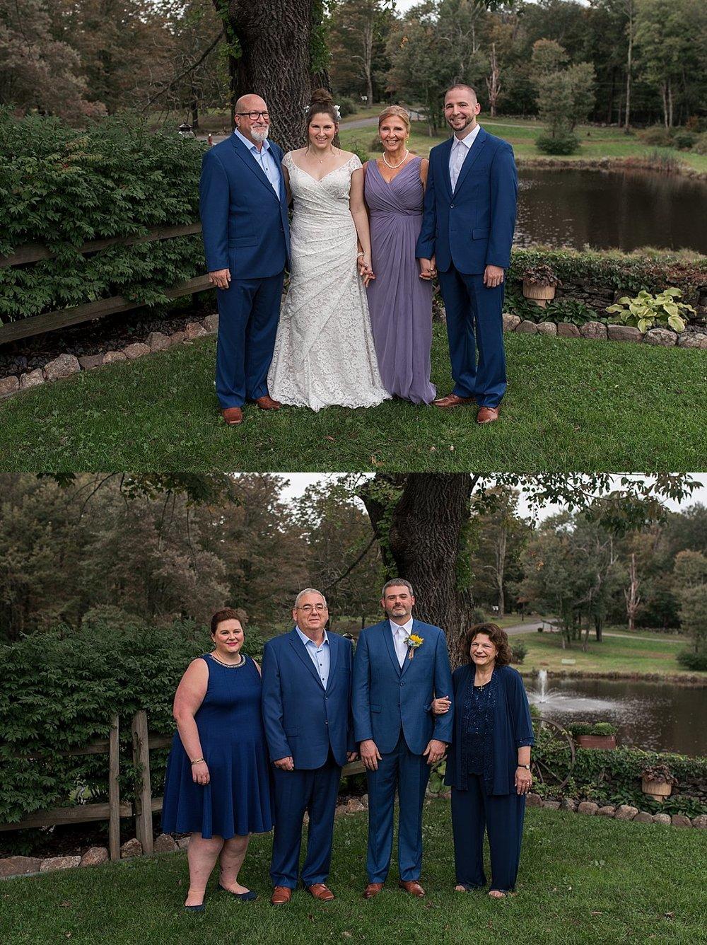 family portraits at connecticut wedding photos