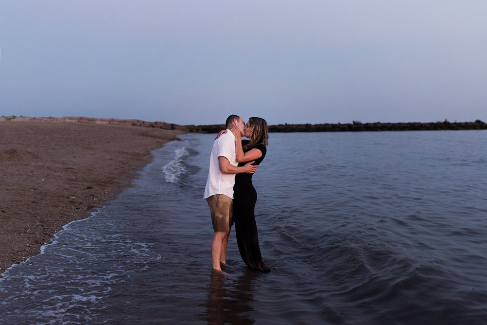 photos at the beach with wedding photographer in ct
