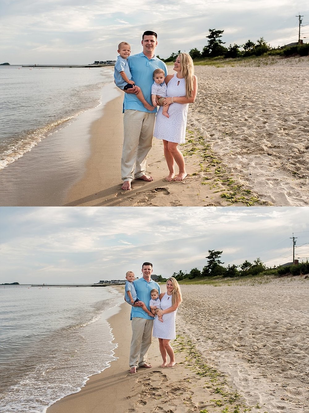 Connecticut family photographer, lifestyle family photography at the beach in Westbrook, CT