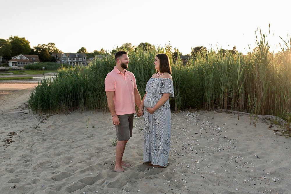 Expecting Mom and Dad during their Connecticut Maternity Photography session