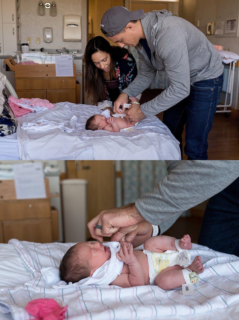 Newborn Hospital Photographer at Manchester Hospital.