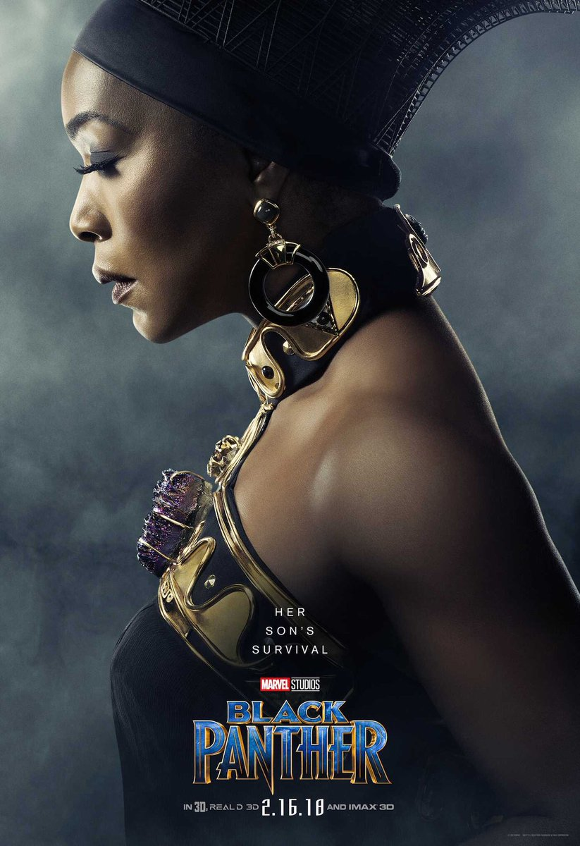 """COME THROUGH! Angela Basset's Ramonda is giving me strong memories of all those """"A King cannot survive without a Queen"""" paintings that every hotep barber has. Except here she doesn't have the weight of the world on her shoulders or Africa in her womb. For that I say Thank God, let us reclaim the headwrap from hoteps."""