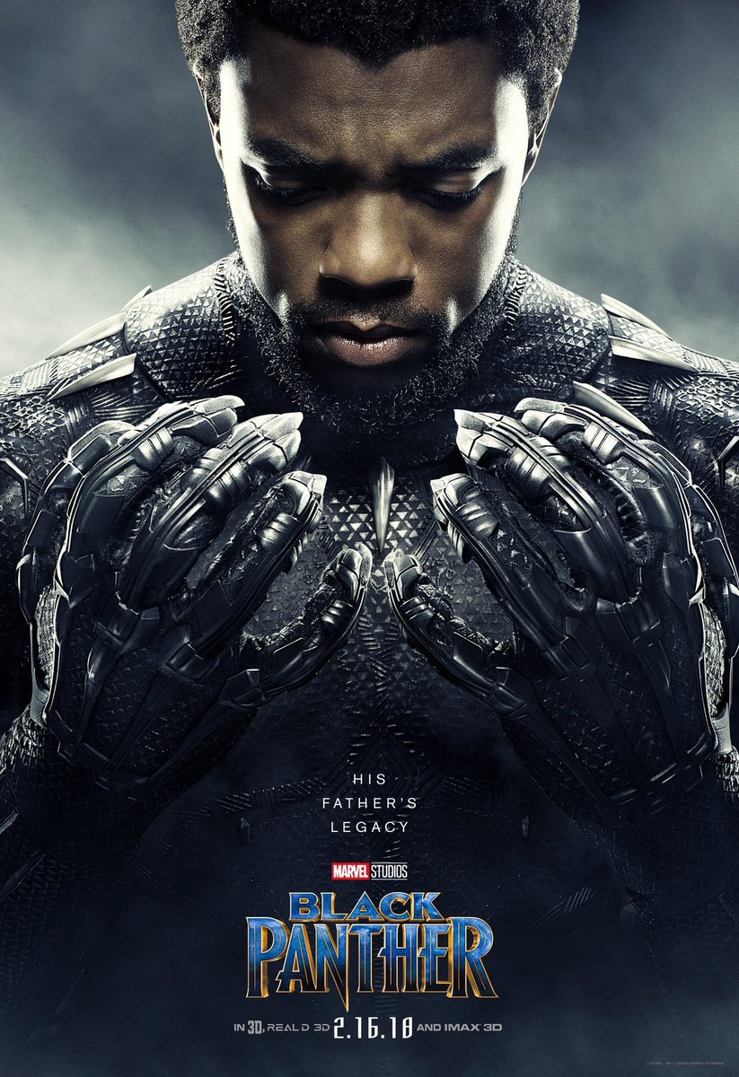 After a long day of kicking ass, T'Challa is checking to see if he chipped his nails. Nope, still good.