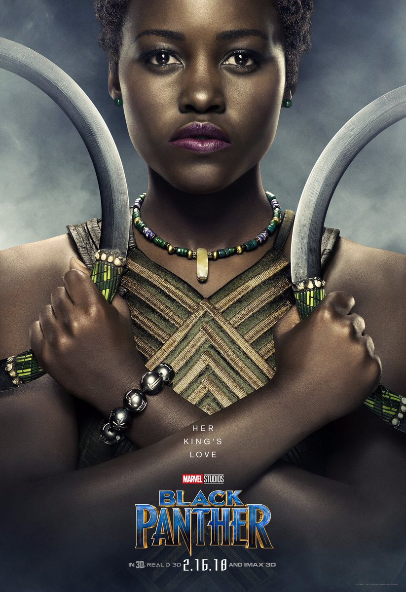 Lupita Nyong'o as Nakia is giving me ALL of the XENA! I am so excited to see her beat up baddies and be gentle and lovable. My soul is ready.