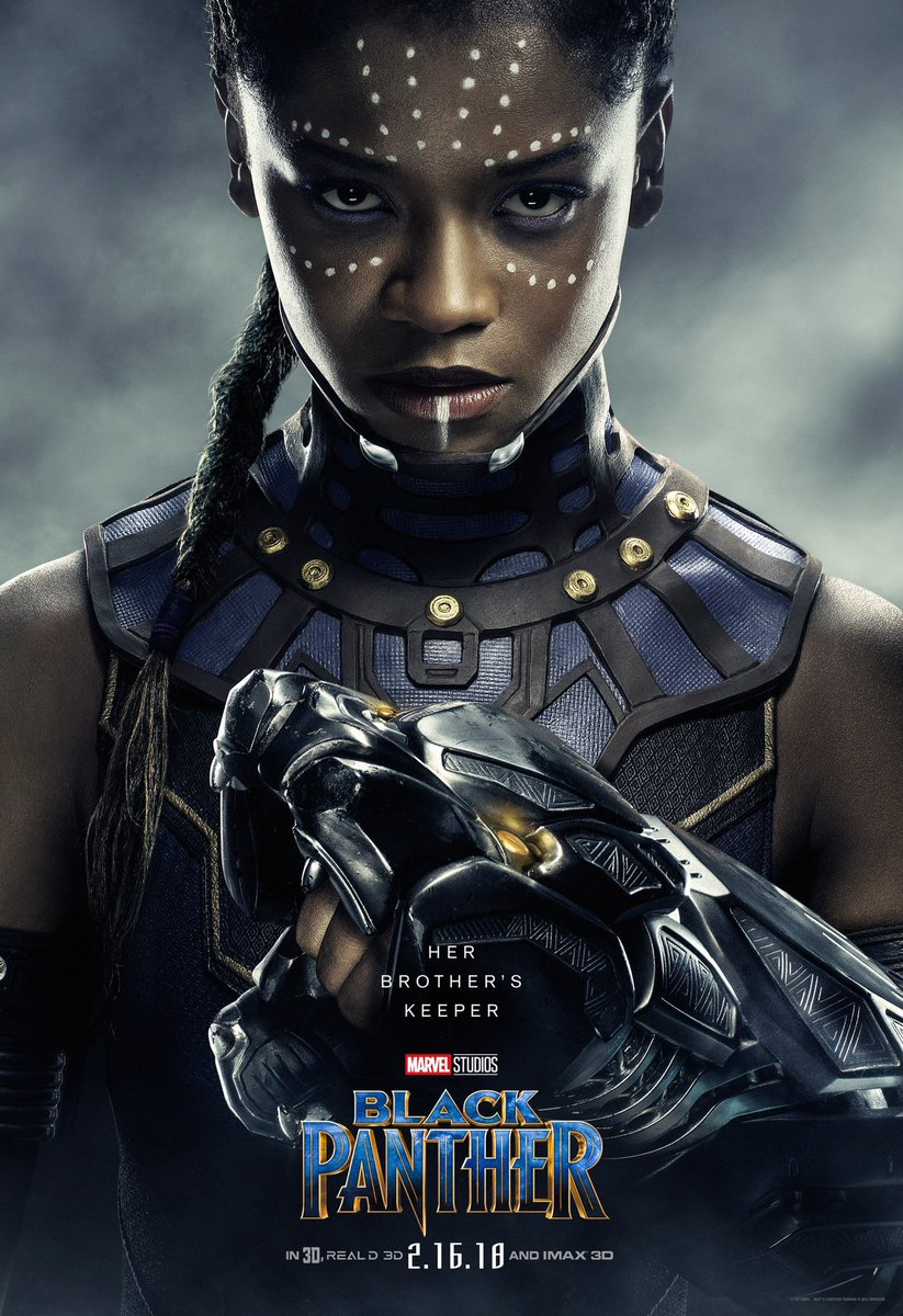 Shuri is my favourite character. She's the younger sister, loves tech, is snarky and probably can have as many cats as she wants with NO judgement! I want her to be friends with Tessa Thompson's Valkyrie.