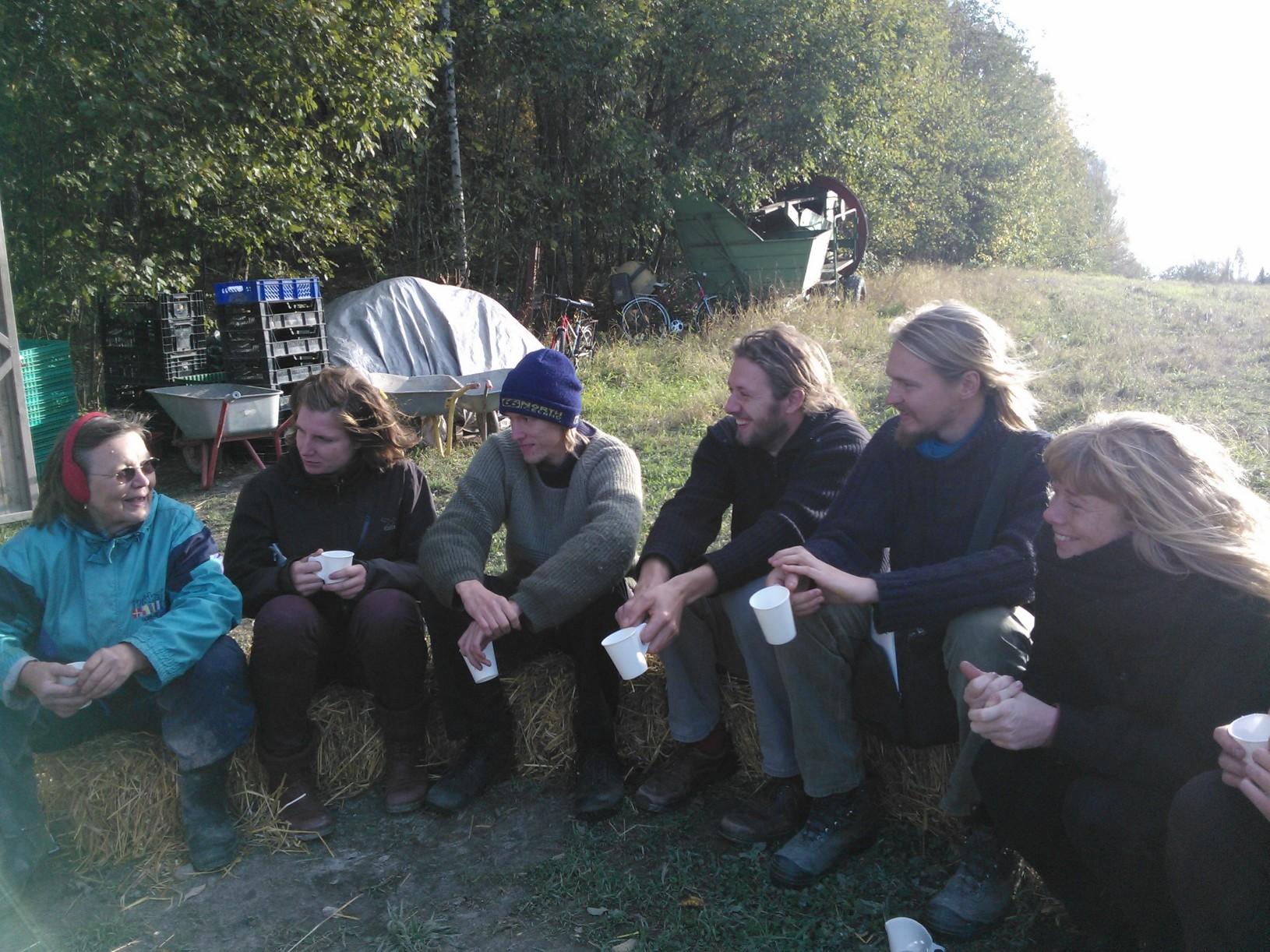 Pohjoismainen biodynaaminen koulutusryhmä Omalla pellolla tiistaina 30.9.