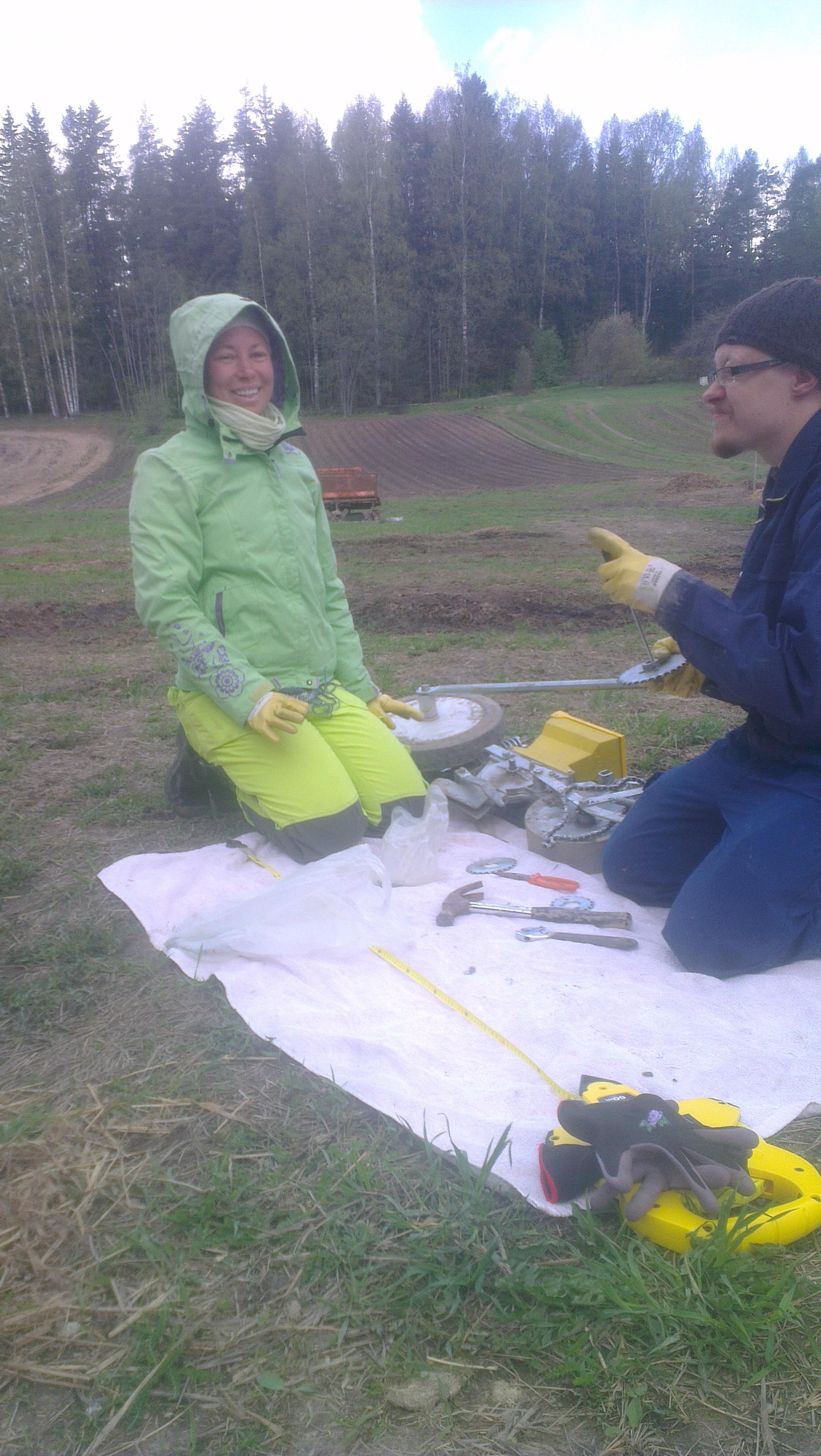 Kylvökoneen säätöä ala Heidi & Jukka