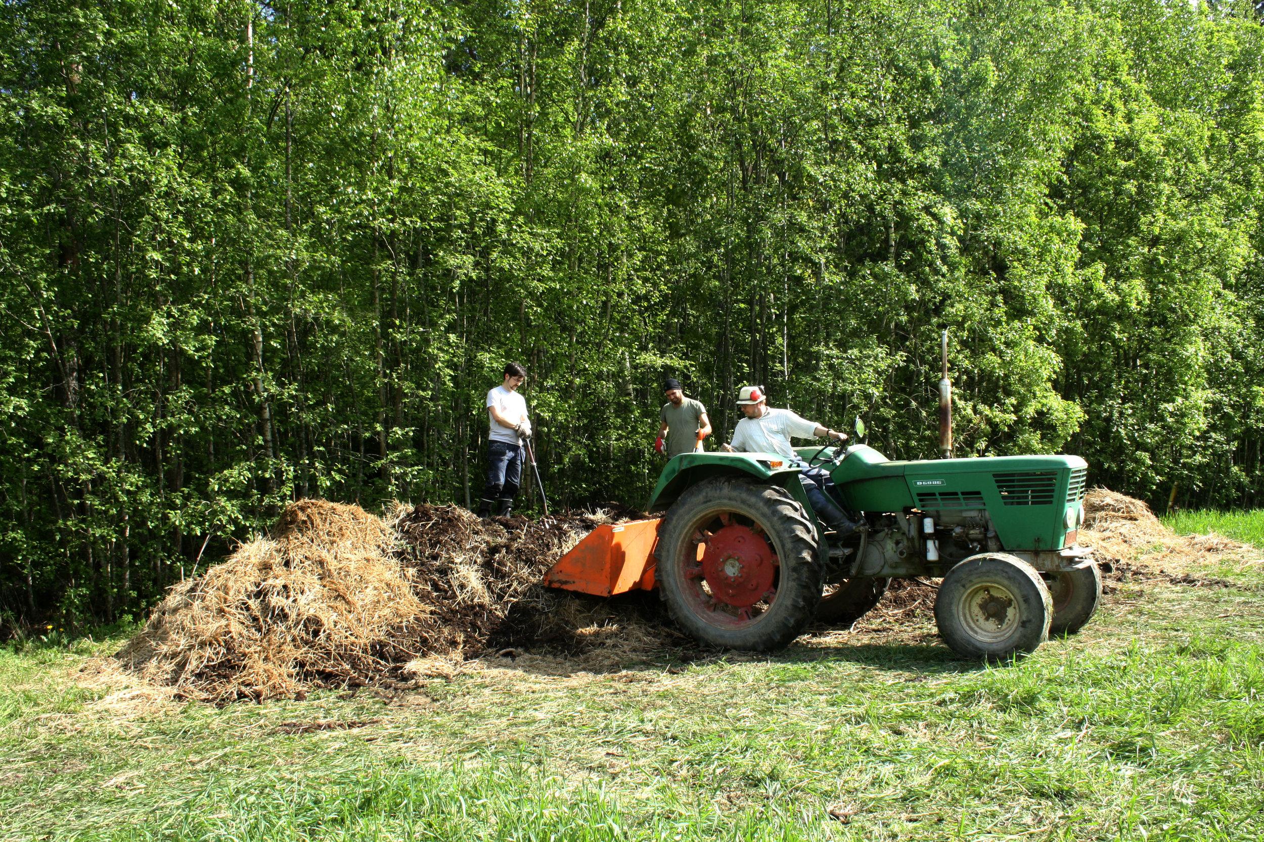 Kompostin siirto
