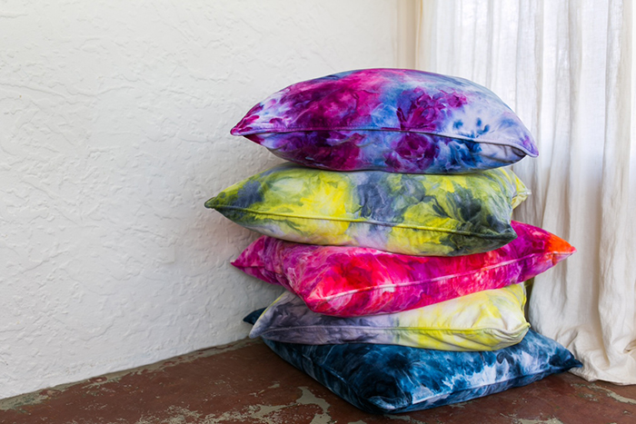 colour clouds cushions