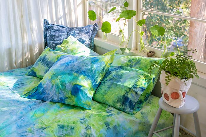 colour clouds bed linen