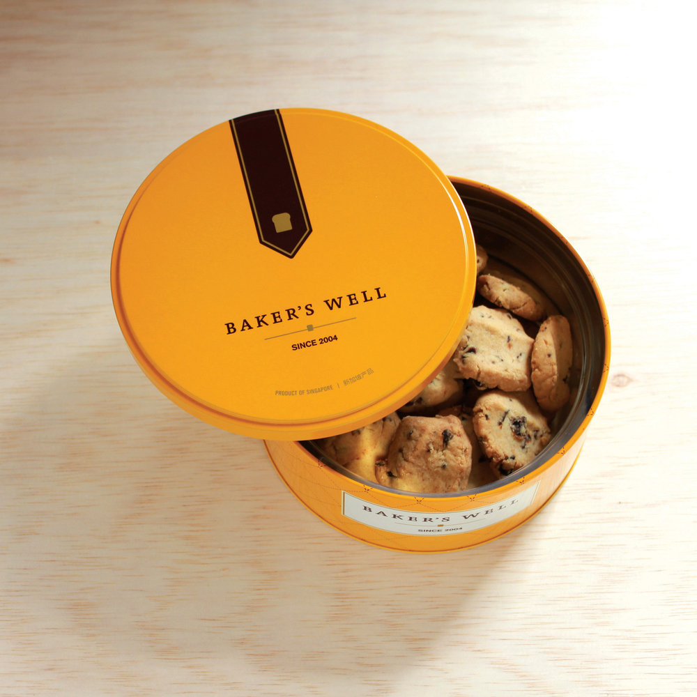 Lychee Cookies in our BW Yellow Cookie Tin