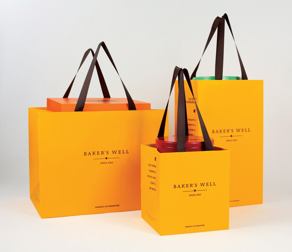 Second generation of the BW Yellow paper Bag in 3 Sizes