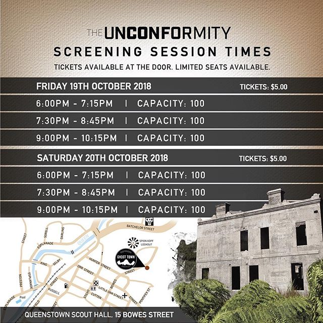 Are you as excited as we are? Share with your friends and family and we hope to see you in Queenstown this weekend @theunconformity!