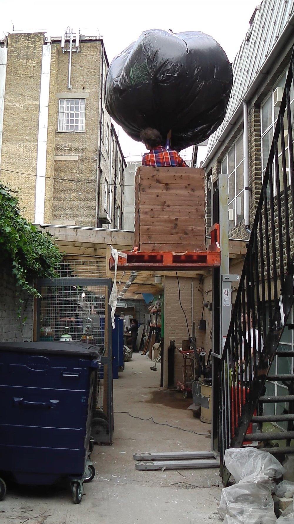 Box as Hot Air Balloon